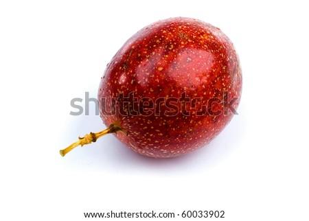 Passion Fruit isolated on white background .