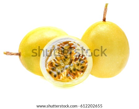 Passion fruit isolated on white background