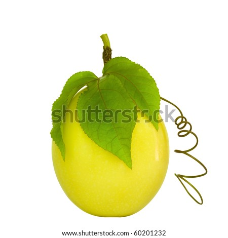 Passion Fruit isolated on white with clipping path