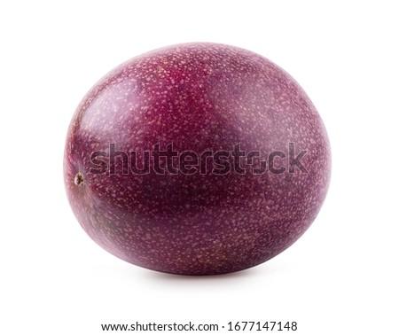 Passion fruit isolated. Whole passionfruit - maracuya isolated on white background. Clipping path included.