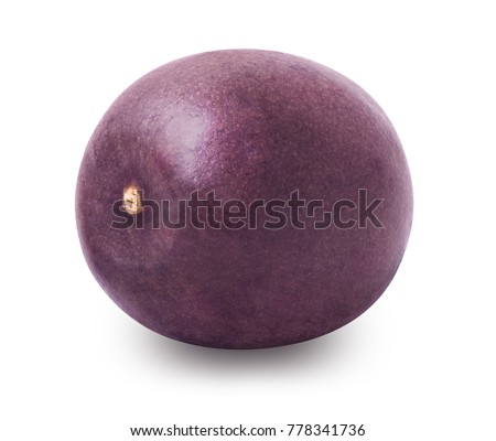 Passion fruit isolated. Whole passionfruit - maracuya isolated on white background. Clipping path included.