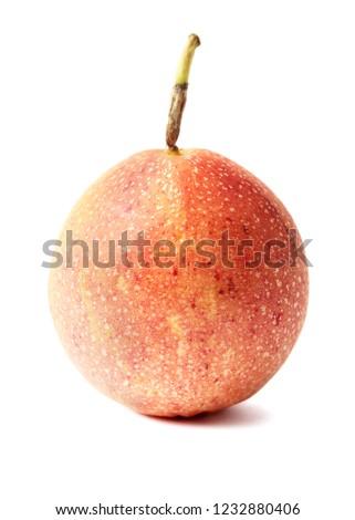 passion fruit, passion fruit isolated on white background.