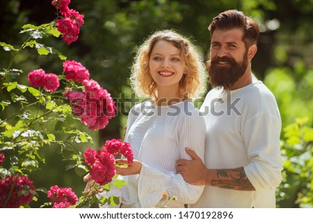 Passionate affectionate man and woman enjoying exciting moment of first kiss. Sensual relationship. Beautiful young couple waiting to kiss
