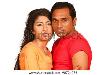 Passionate Fashion indian Couple image shot in studio