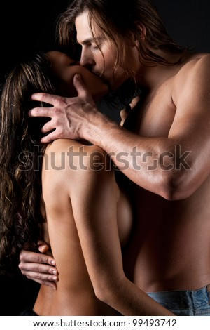 Passionate married couple having sex