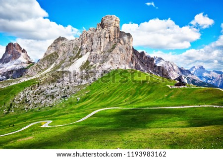 Passo Giau, popular travel destination in Dolomites #1193983162