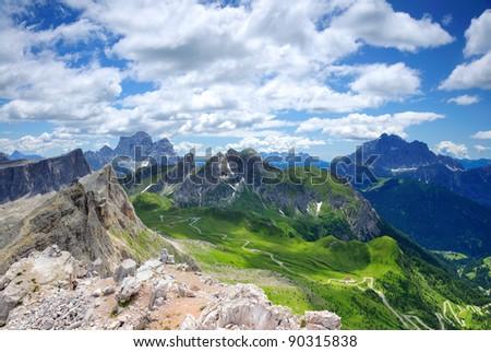 Passo Guai in Dolomite, Italy