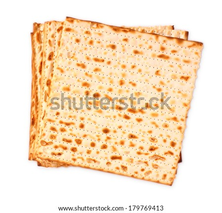 passover background matzoh jewish passover bread isolated