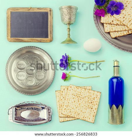 passover objects  and food set...