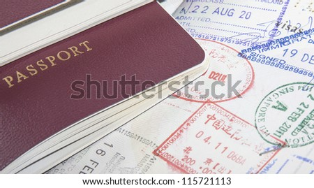 passport and stamps