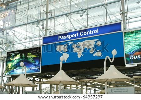 Passport Control at the Suvarnabhumi airport, Thailand