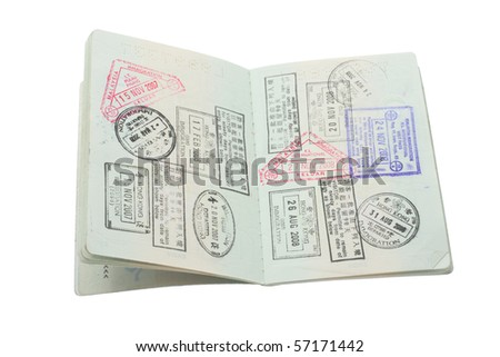 Passport on Isolated White Background