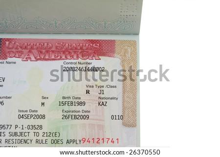 passport with american visa