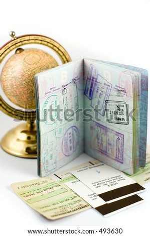 Passport com selos do visto