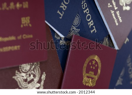 Passports lay on a table ready for the next adventure