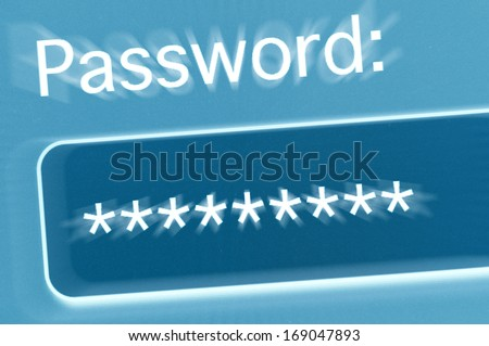 Password Field in Internet Browser on Computer Screen