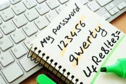 Password management. Weak and strong password.