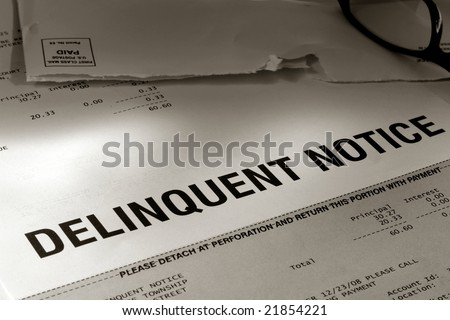 Past Due Notice Of Delinquent Account Late Payment Warning