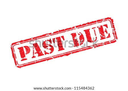 Past due rubber stamp vector illustration. Contains original brushes