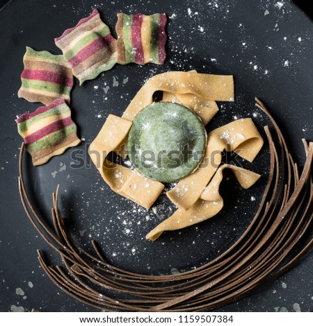 Pasta food photography handmade color pasta