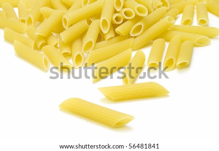 Pasta isolated over white background.
