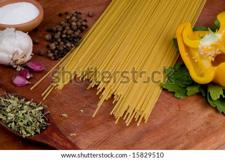 Pasta on the table