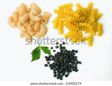 Pasta, parsley and black pepper