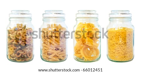 Pasta set isolated