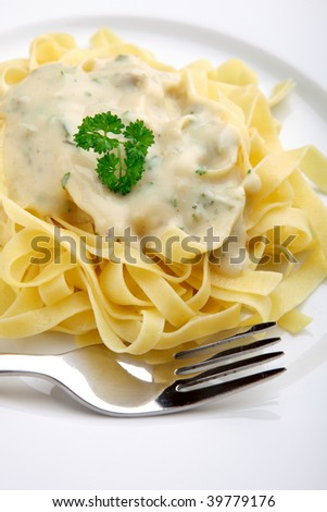 pasta with cheese sauce