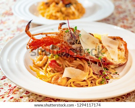 Pasta with lobster and lobster #1294117174