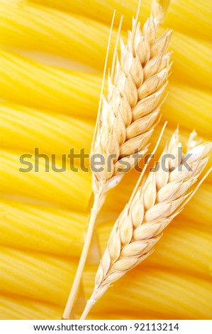 Pasta with wheat ears