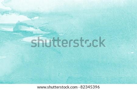 Pastel Blue Watercolor Background 4