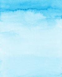 Pastel Blue Watercolor Background, Soft Blue Texture, Digital Paper