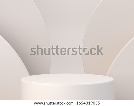 Pastel colors shapes on natural pastel colors abstract background. Minimal  cylinder podium. Scene with geometrical forms. Empty showcase, cosmetic product presentation. Fashion magazine. 3d render.