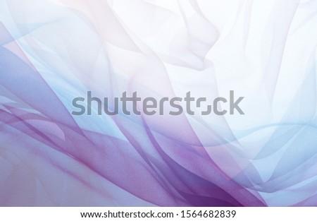 Pastel colour chiffon fabric image  Foto d'archivio ©