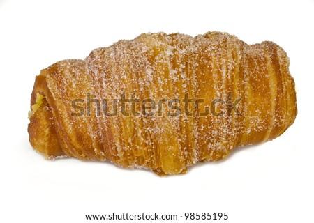 Pastel de la pasta en capas con az���ºcar. Cream paste bun, tournemi typical Catalan