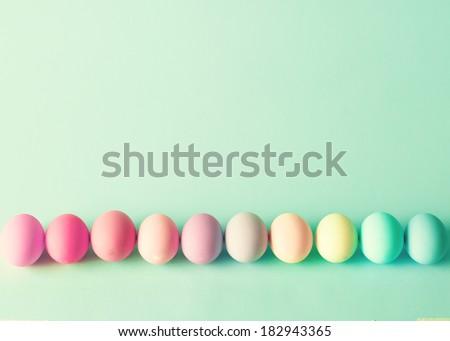 Pastel Easter Eggs