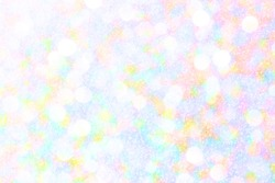 Pastel glitter background, lens bokeh effect, colorful spot backdrop, blur bubble banner, abstract pastel circle dot scene