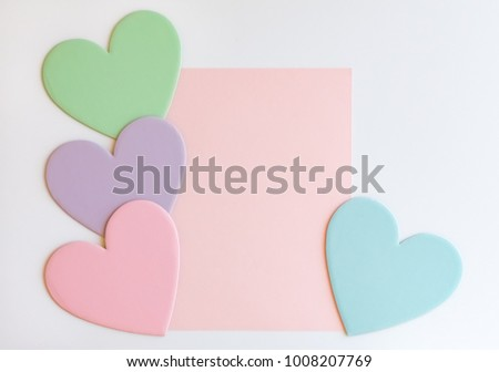 Pastel Hearts Design Templates #1008207769