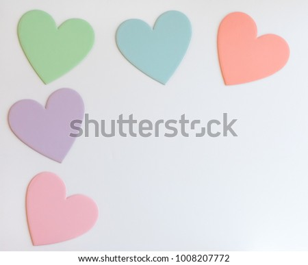 Pastel Hearts Design Templates #1008207772