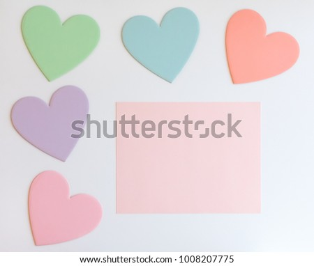 Pastel Hearts Design Templates #1008207775