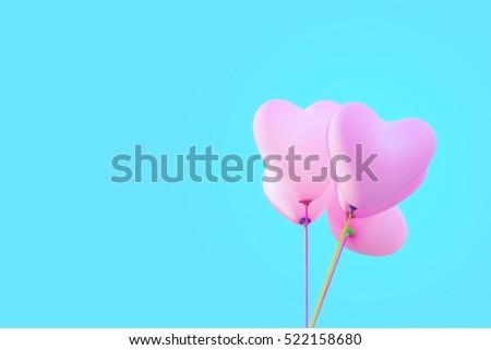 Pastel love balloons