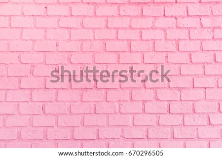 Pastel pink brick background wall texture.pink red brickwall with light paint backdrop wallpaper for woman concept