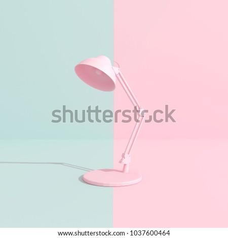 pastel pink table lamp.minimal...