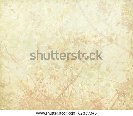 Pastel Tangled Blossom Art on Paper Background