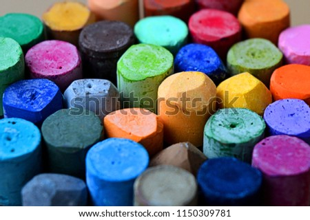 Pastels. Oil pastels. Colorful pastels. Art supplies. Art studio. #1150309781