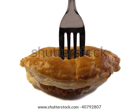 Pastie shot with a fork in the top