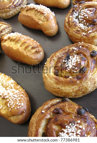 Pastries at a bakery - stock photo