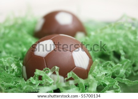 Pastries shaped like soccer ball