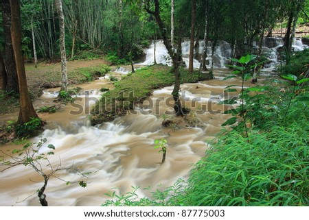 Patad Deep Forest Waterfall in Thailand